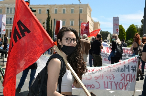 May Day was celebrated in Greece with mass demonstrations